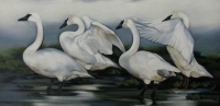 la_conner_arts_alive_Becky Fletcher - Lee's Swans, 48x24, oil on canvas, $950